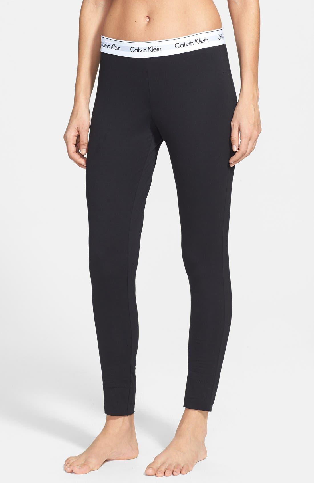 Modern Cotton Lounge Pants,                             Main thumbnail 1, color,                             Black