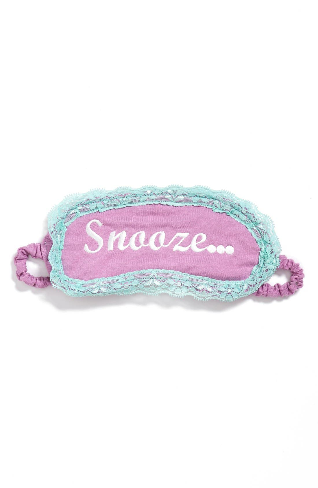 Main Image - PJ Salvage Embroidered Lace Trim Eye Mask