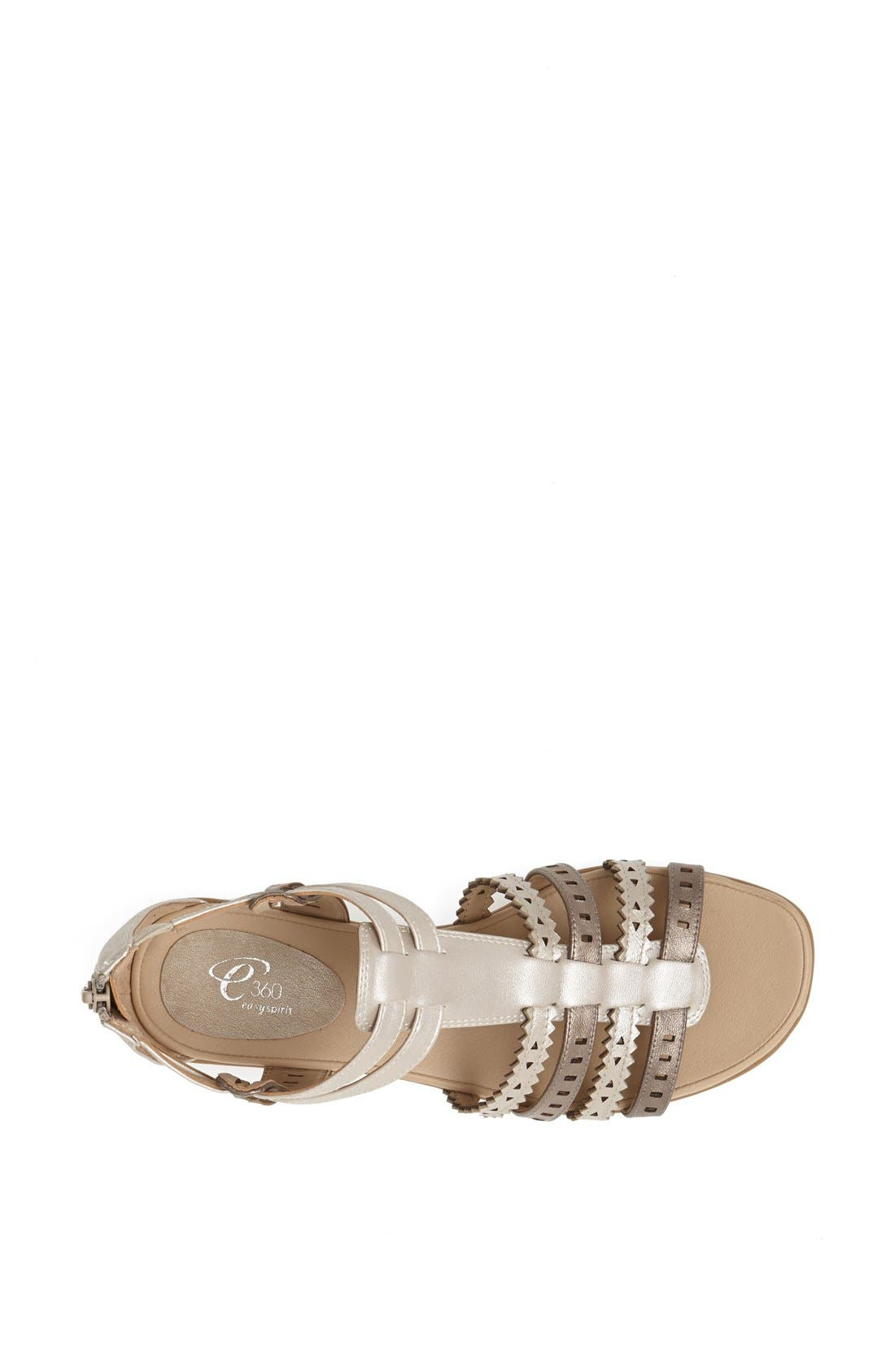 Alternate Image 3  - Easy Spirit 'e360 - Karelly' Pinked & Perforated Leather Back Zip Sandal (Women)