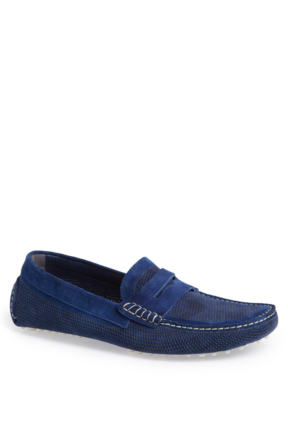 Alternate Image 1 Selected - Canali Perforated Suede Driving Shoe (Men)
