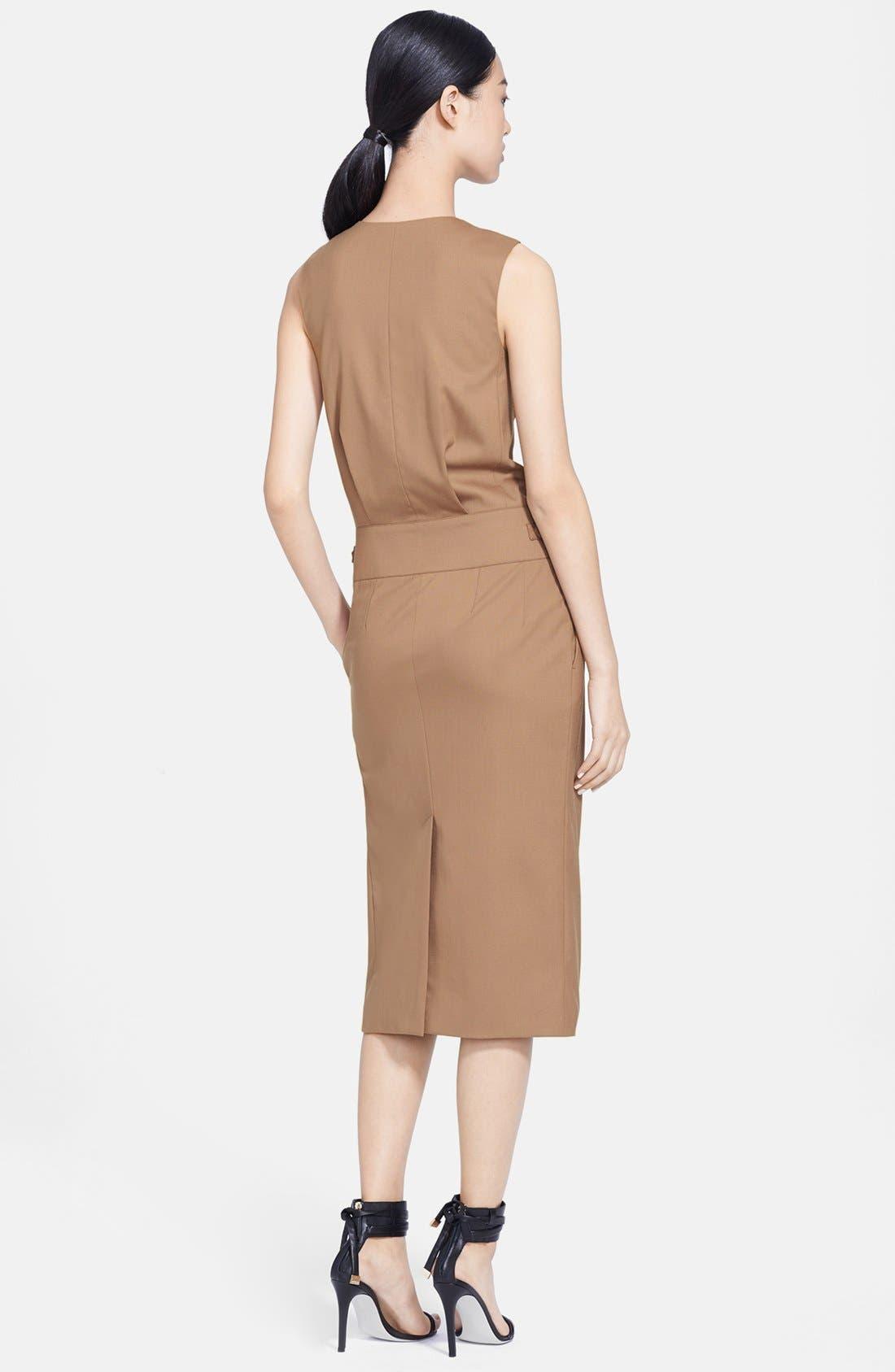 Alternate Image 2  - Jason Wu Stretch Wool Utility Wrap Dress
