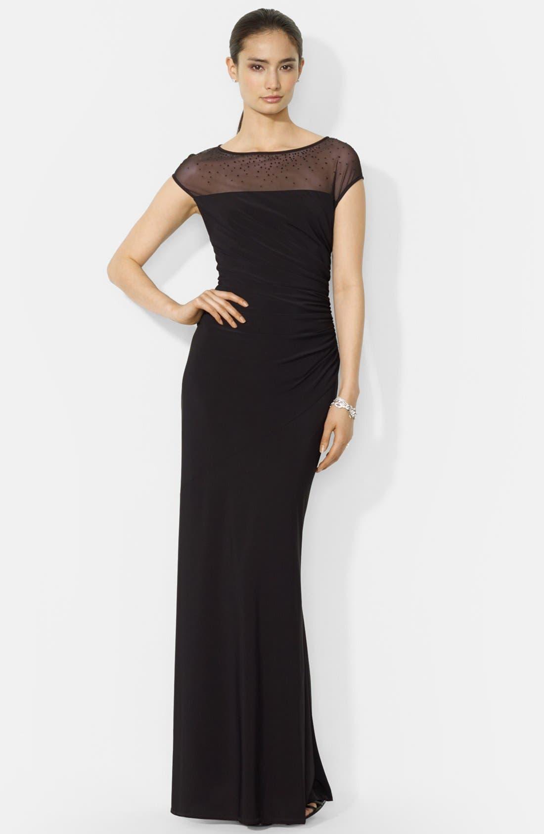 Alternate Image 1 Selected - Lauren Ralph Lauren Matte Jersey Gown