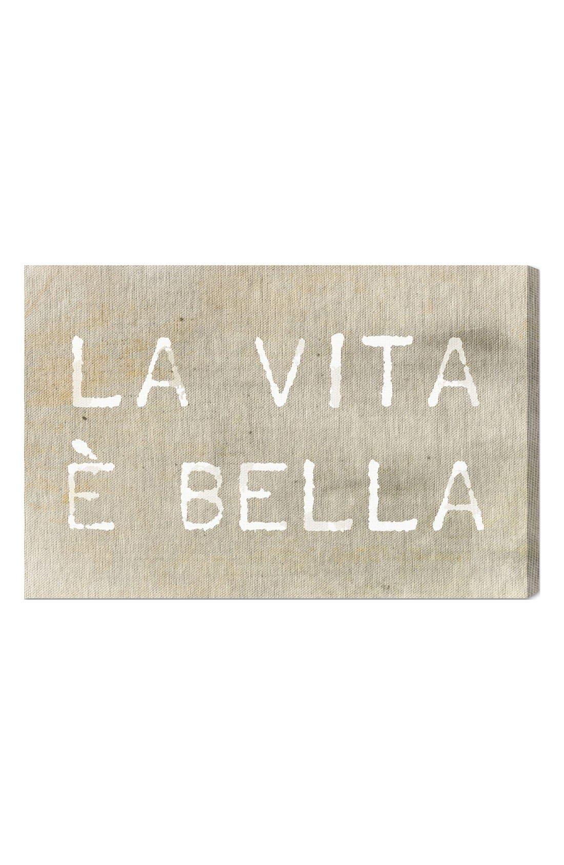'La Vita È Bella' Wall Art,                             Main thumbnail 1, color,                             Beige/ Khaki