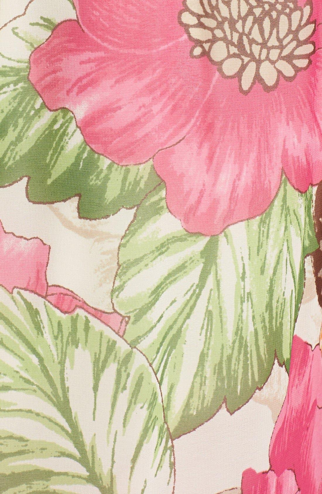 Alternate Image 3  - Eliza J Cutaway Floral Print Maxi Dress