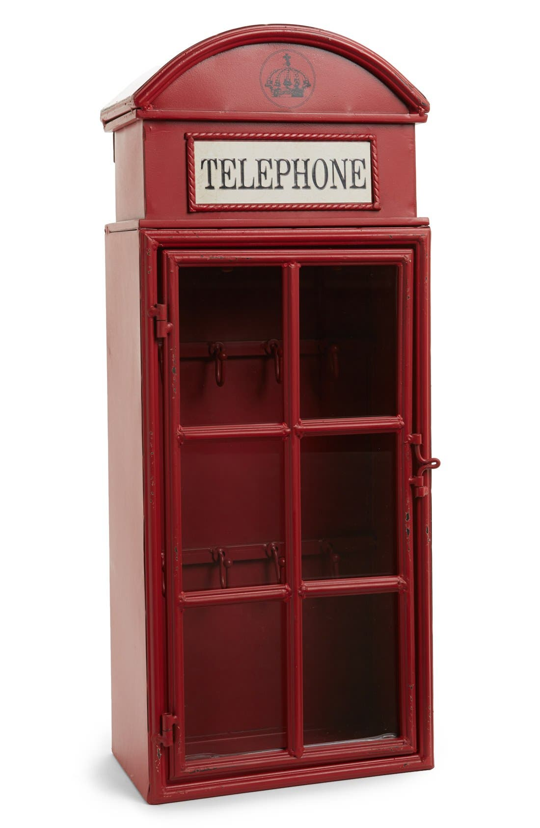 Alternate Image 1 Selected - Creative Co-Op 'Phone Booth' Key Holder