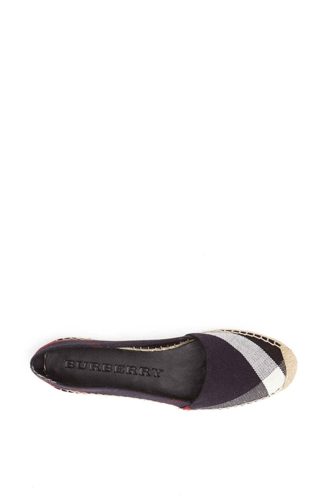 Alternate Image 3  - Burberry Hodgeson Check Print Espadrille Flat (Women)