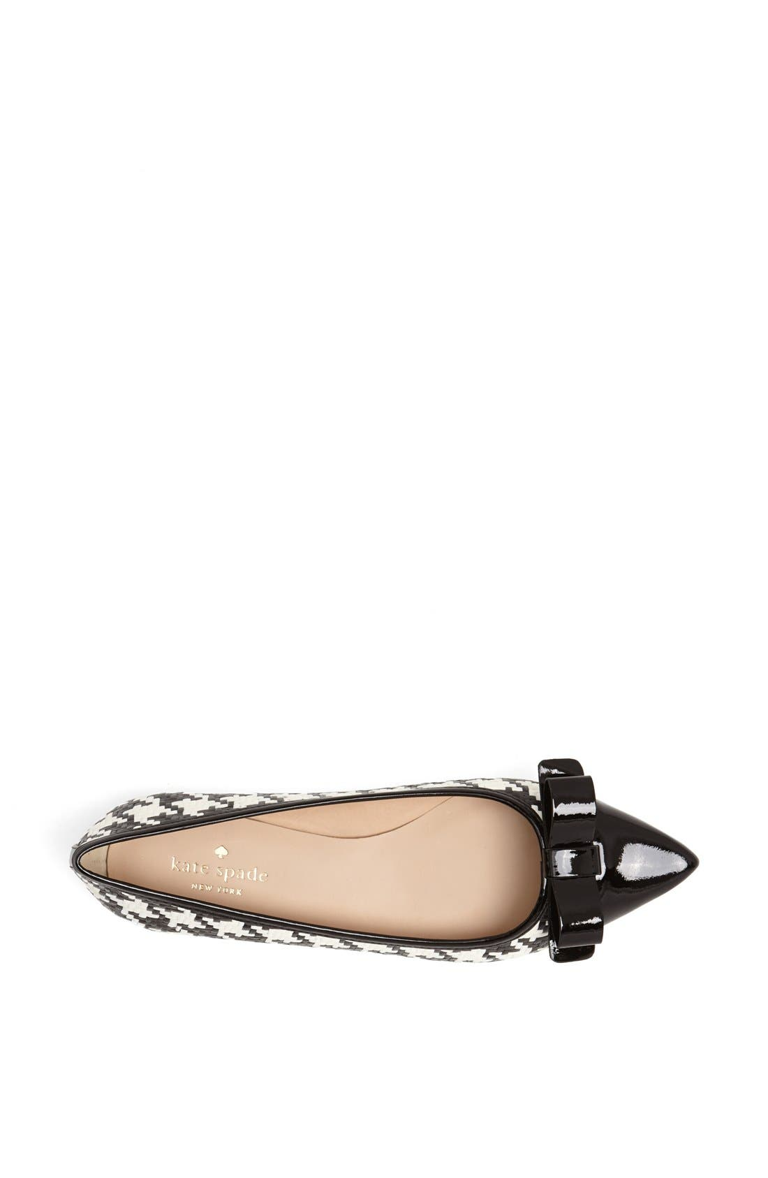 Alternate Image 4  - kate spade new york 'gabe too' pointy toe flat