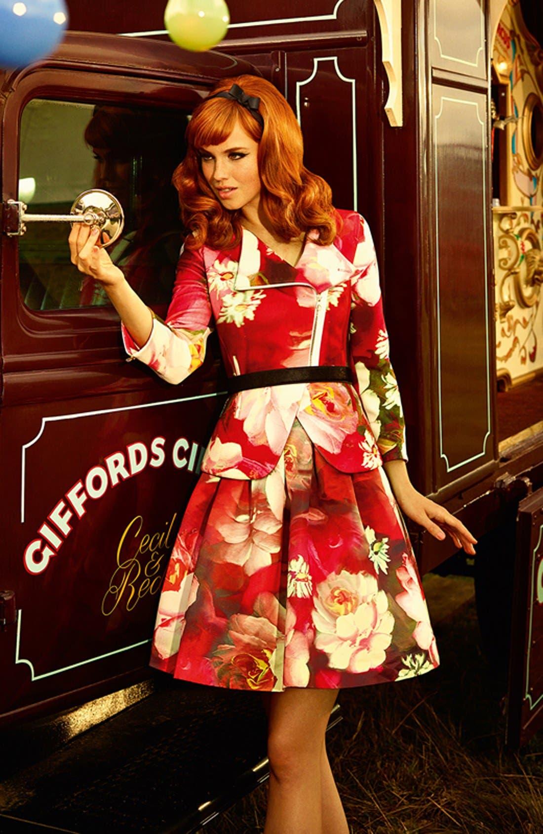 Alternate Image 4  - Ted Baker London 'Monny - Rose on Canvas' Full Skirt