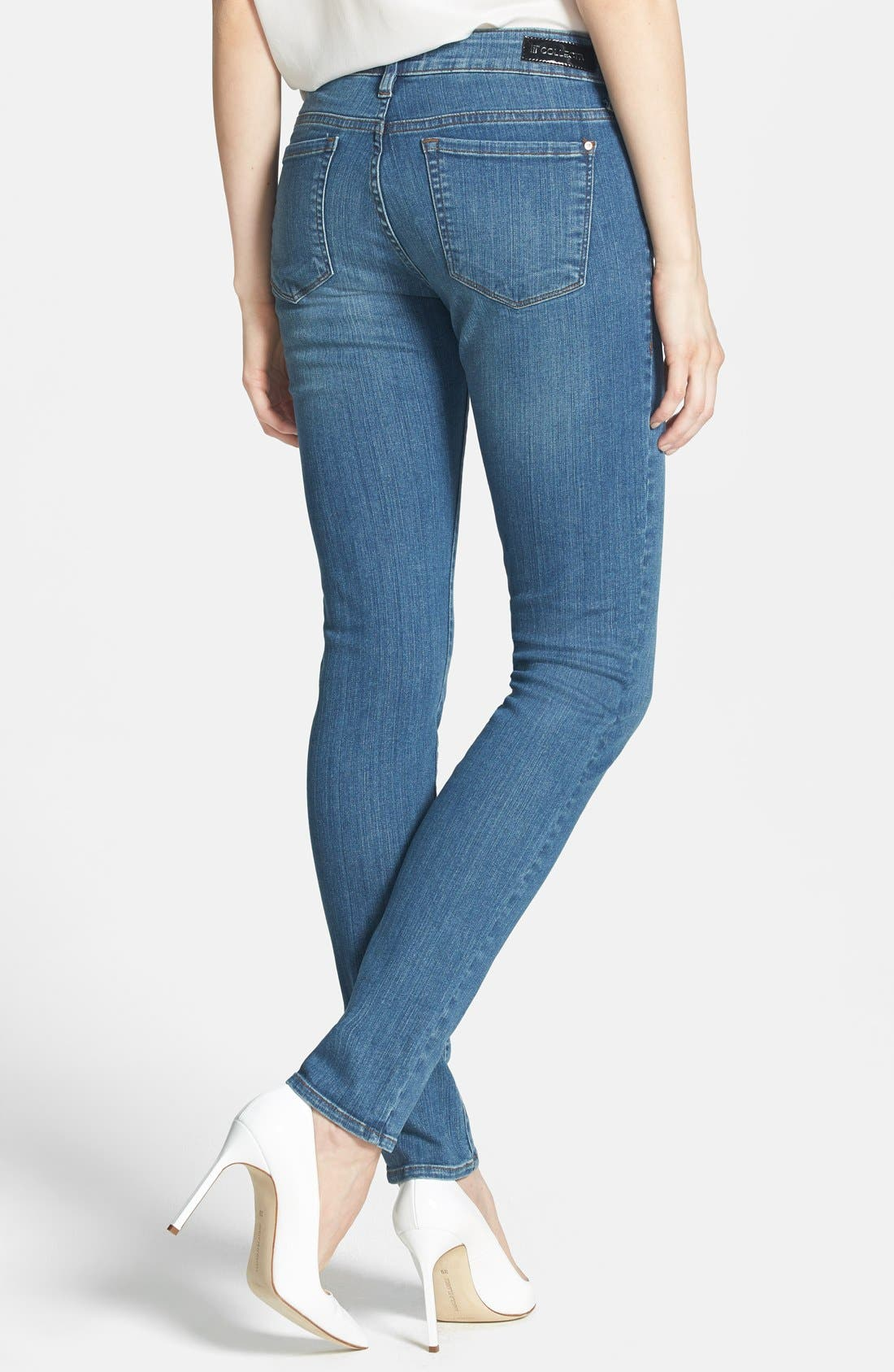 Alternate Image 2  - !iT Collective 'Lauren' Stretch Skinny Jeans (Solstice)