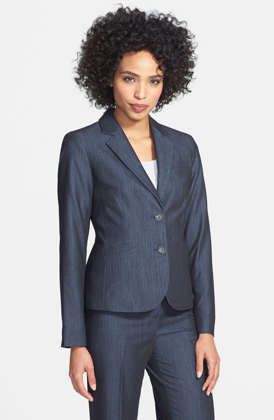 Alternate Image 1 Selected - Jones New York Two-Button Stretch Denim Jacket