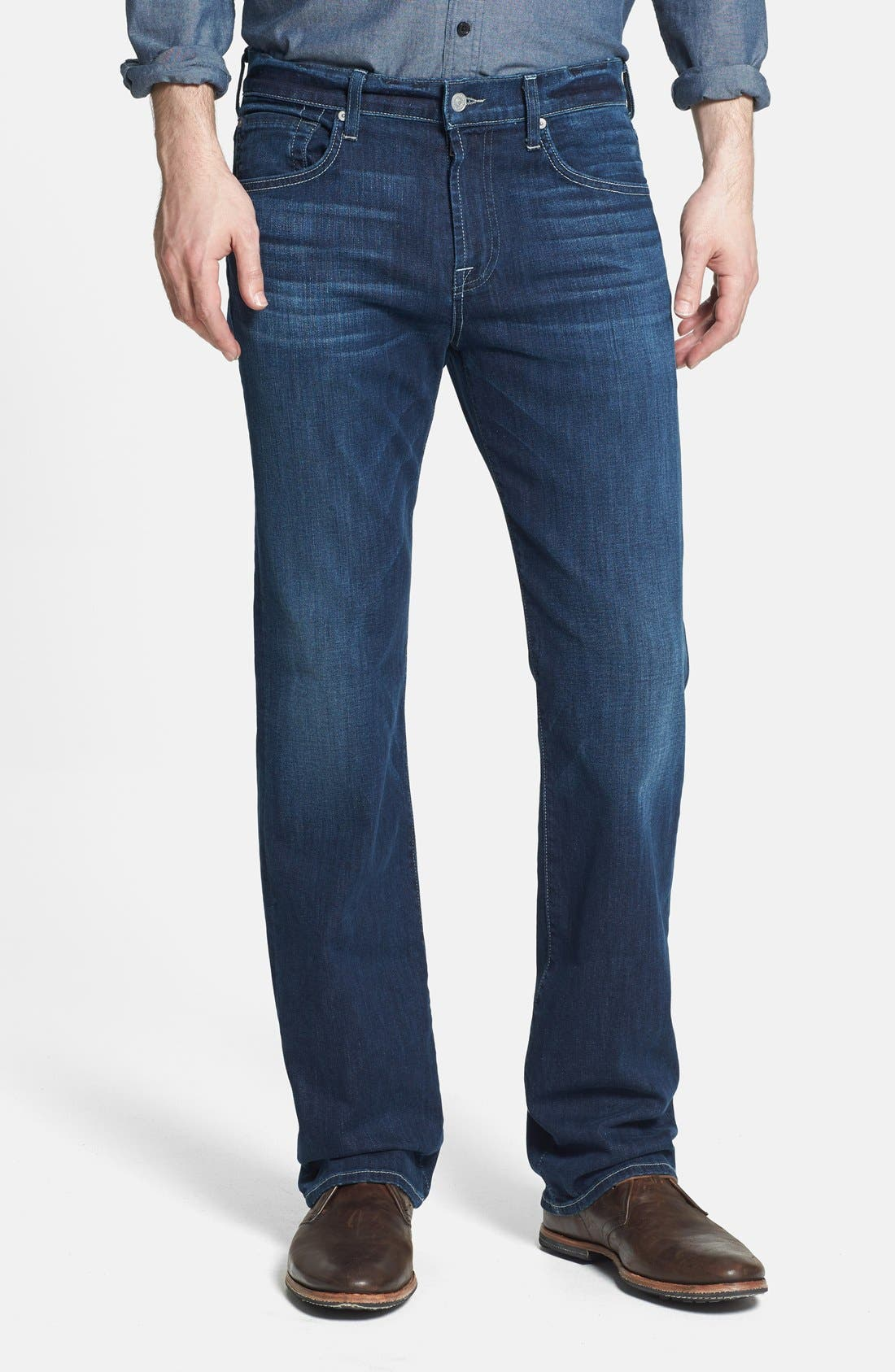 Alternate Image 1 Selected - 7 For All Mankind® 'Carsen - Luxe Performance' Straight Leg Jeans (Venice Waters)
