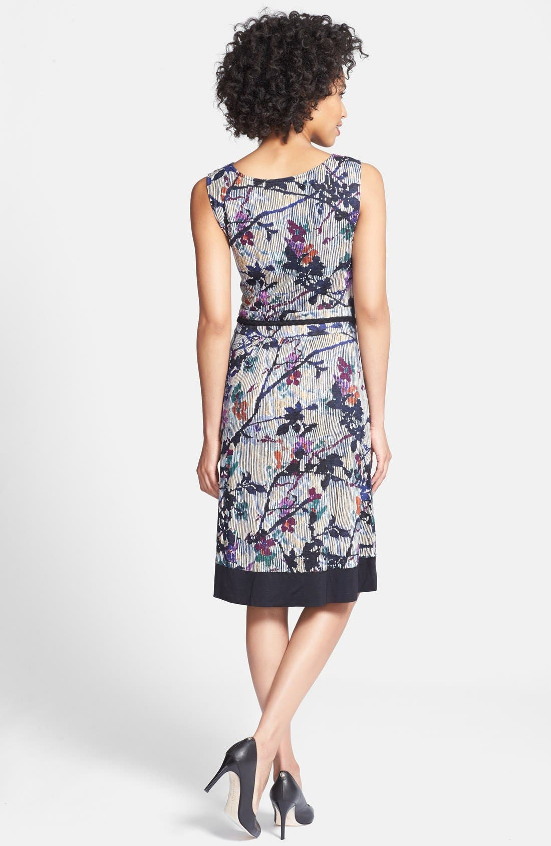 Alternate Image 2  - NIC+ZOE 'Floral Vines' Belted Jersey Dress