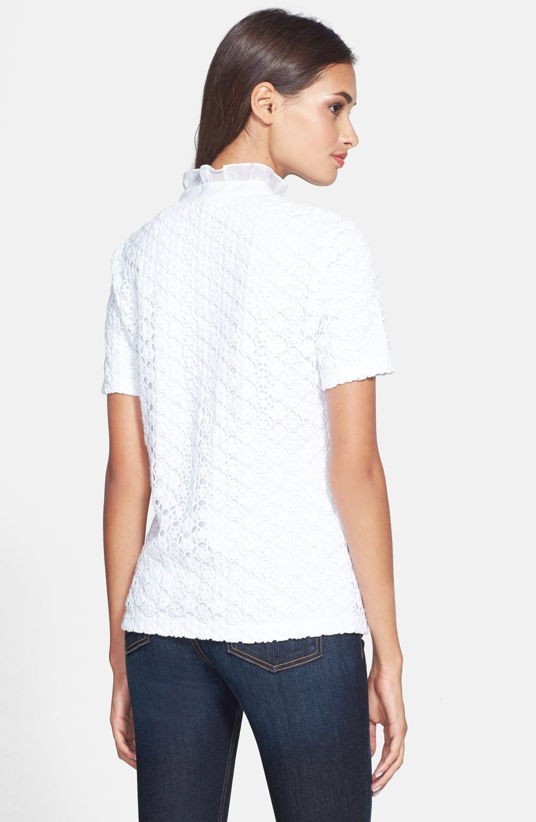 Alternate Image 2  - Tory Burch 'Lidia' Lace Polo