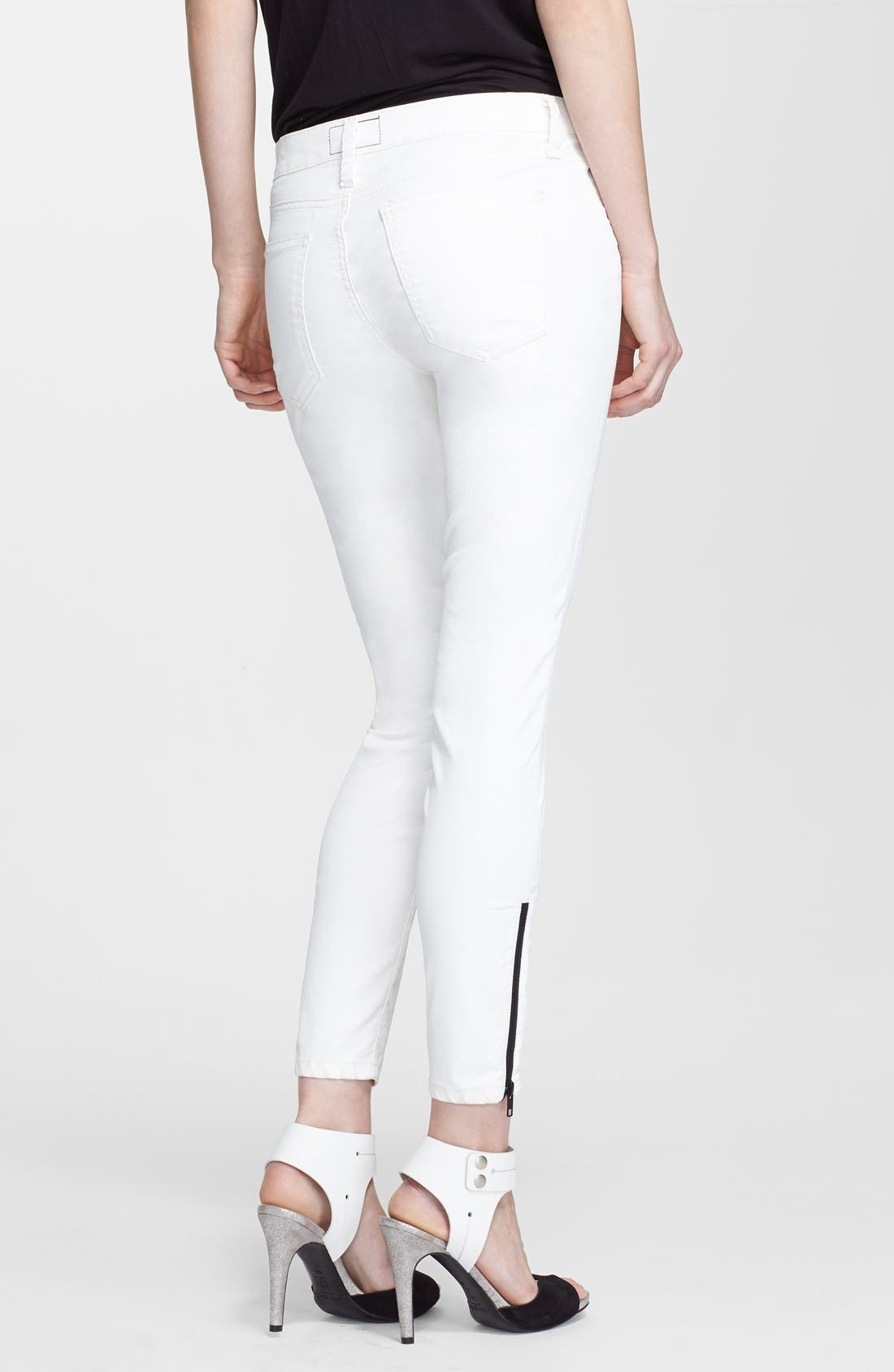 Alternate Image 2  - Current/Elliott 'The Soho Zip Stiletto' Skinny Jeans (Sugar Coated)