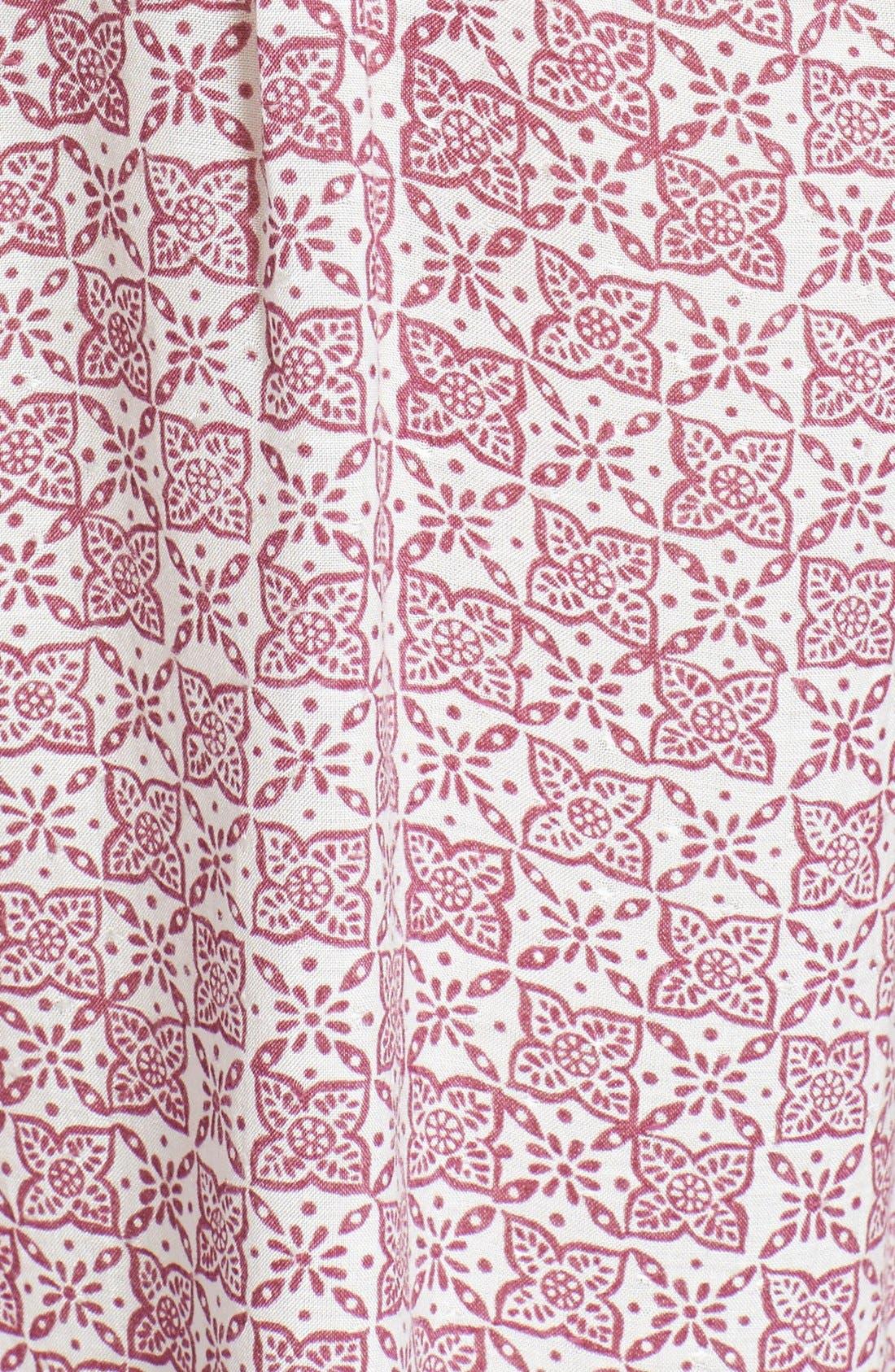 Print Woven Top,                             Alternate thumbnail 3, color,                             Moroccan Motif