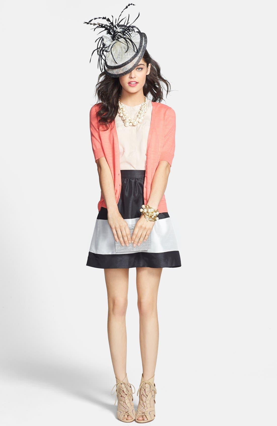 Alternate Image 4  - kensie Colorblock Shantung Skirt
