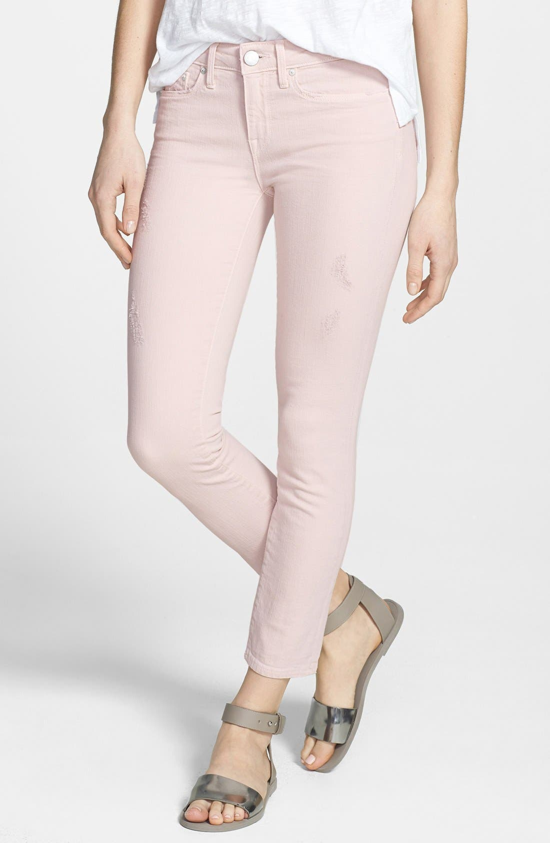 Main Image - Vince 'Dylan' Colored Ankle Stretch Skinny Jeans