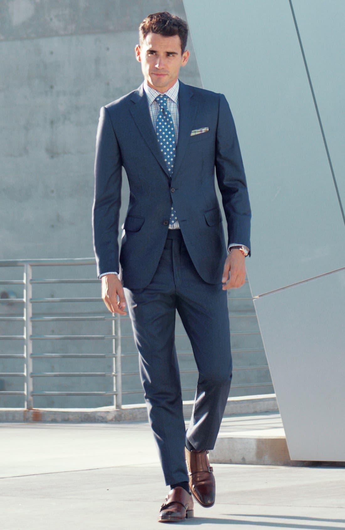 Alternate Image 5  - Peter Millar Classic Fit Wool Suit