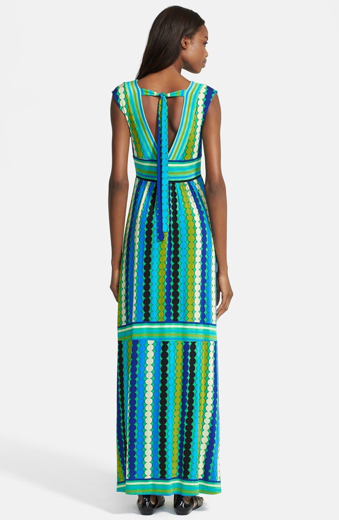 Alternate Image 2  - Tracy Reese Reversible Print Jersey Maxi Dress