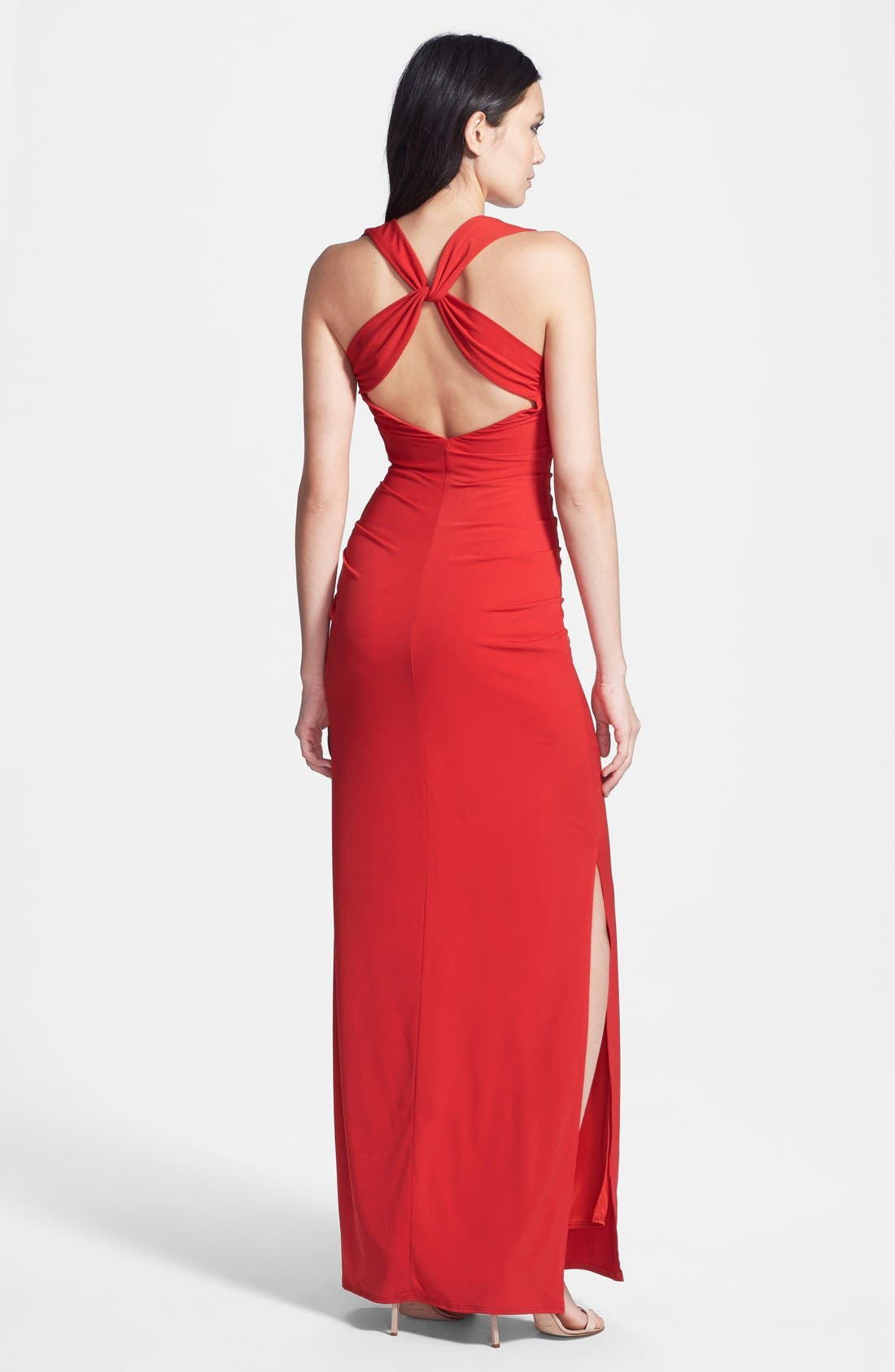 Alternate Image 2  - Laundry by Shelli Segal Cross Back Jersey Dress