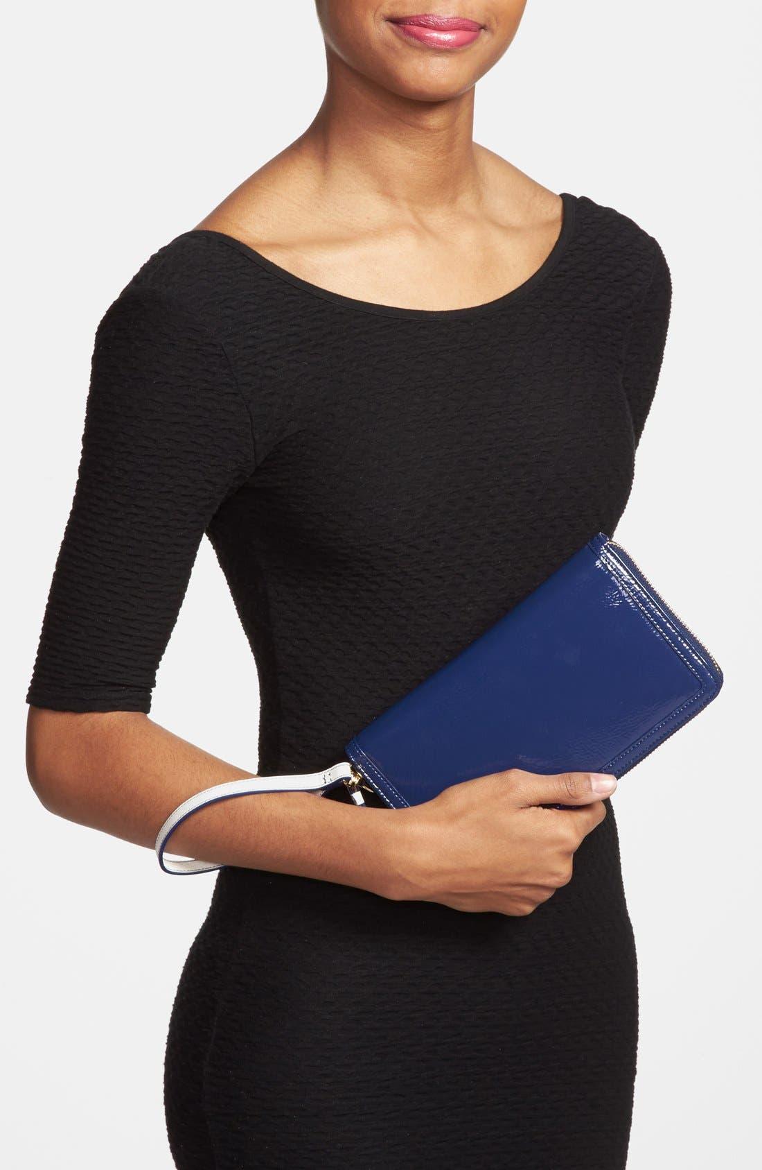 Alternate Image 4  - Halogen® Patent Leather Zip-Around Wallet