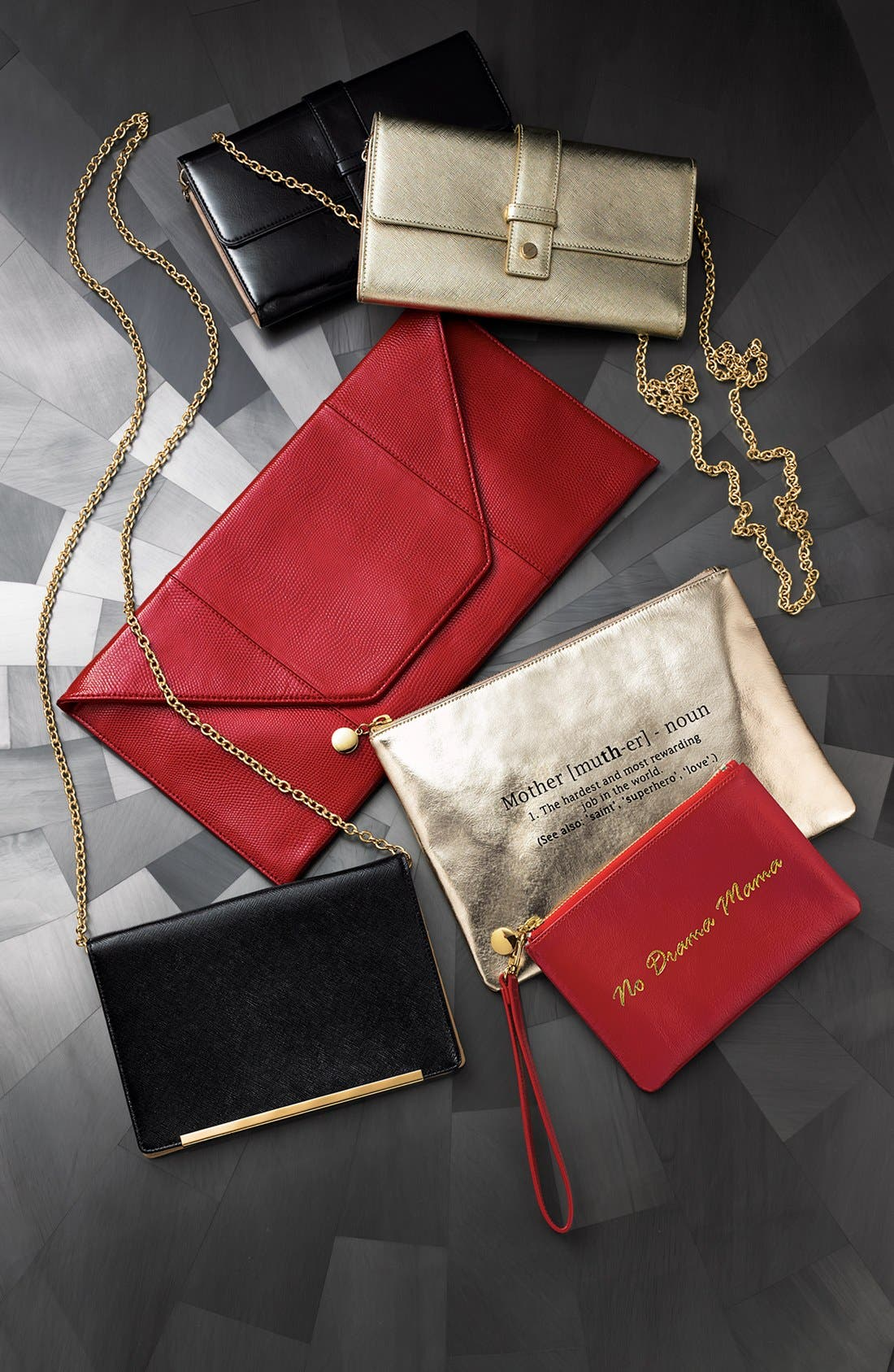 Alternate Image 6  - Halogen® Saffiano Leather Crossbody Clutch Wallet