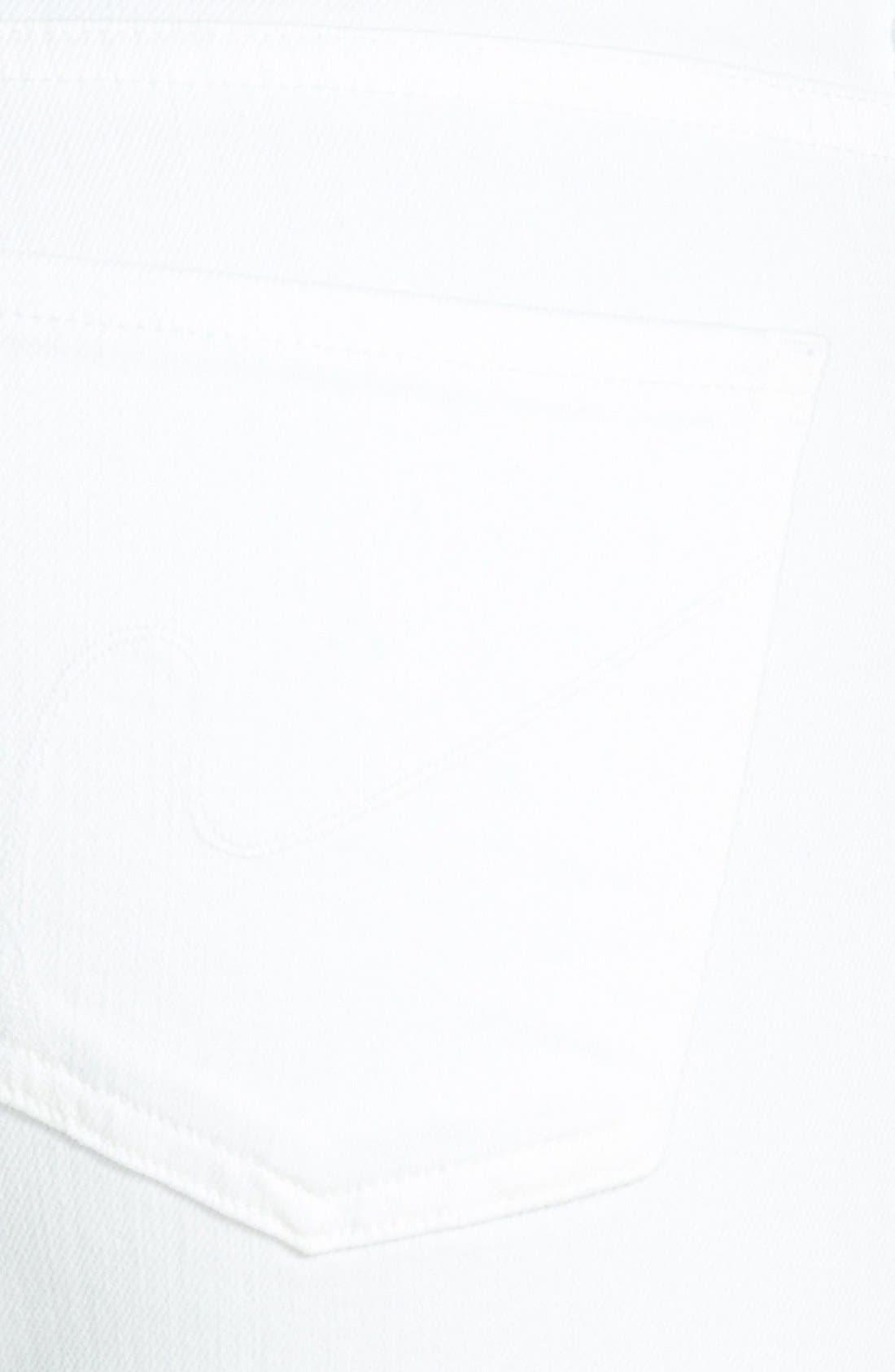 'Emannuelle' Slim Bootcut Jeans,                             Alternate thumbnail 3, color,                             Optic White