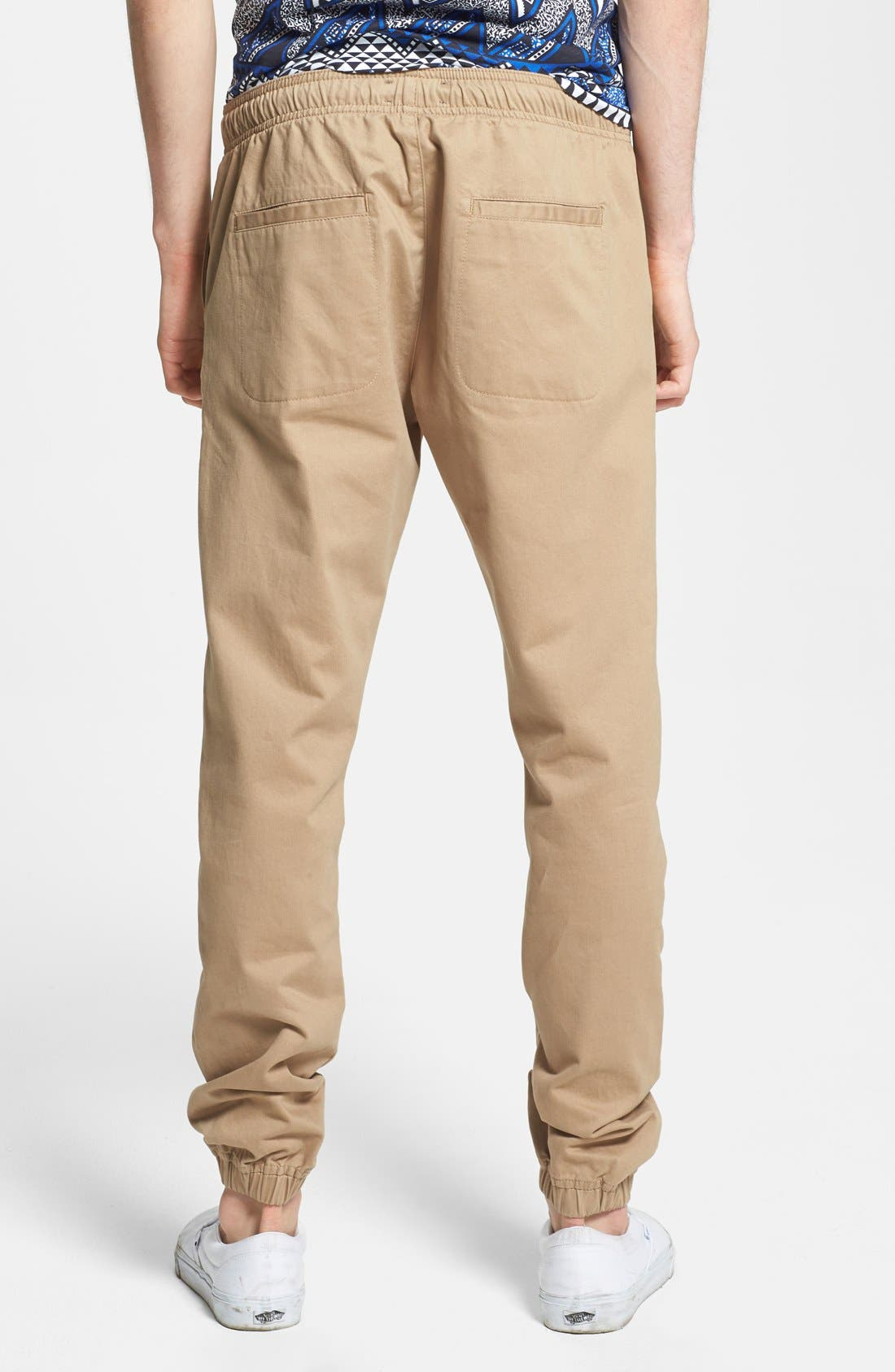 Alternate Image 2  - Topman Skinny Fit Woven Jogger Chinos