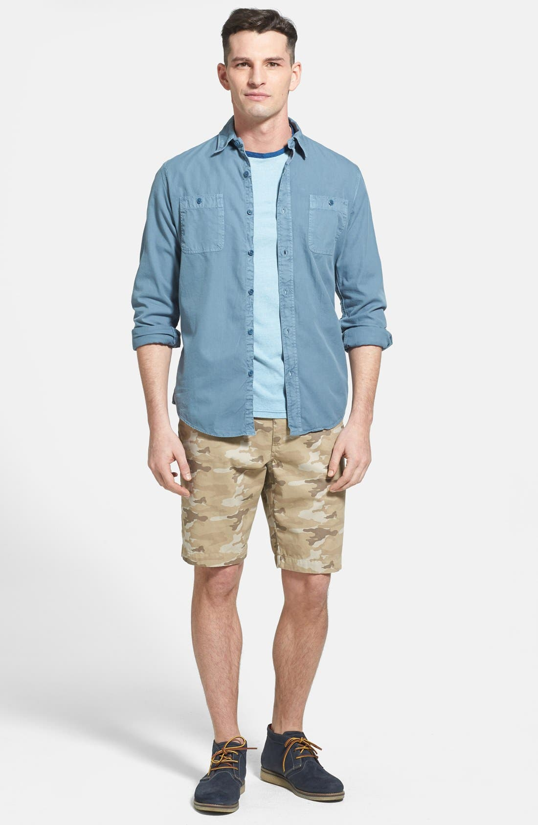 Alternate Image 4  - Faherty 'Sea View' Twill Sport Shirt