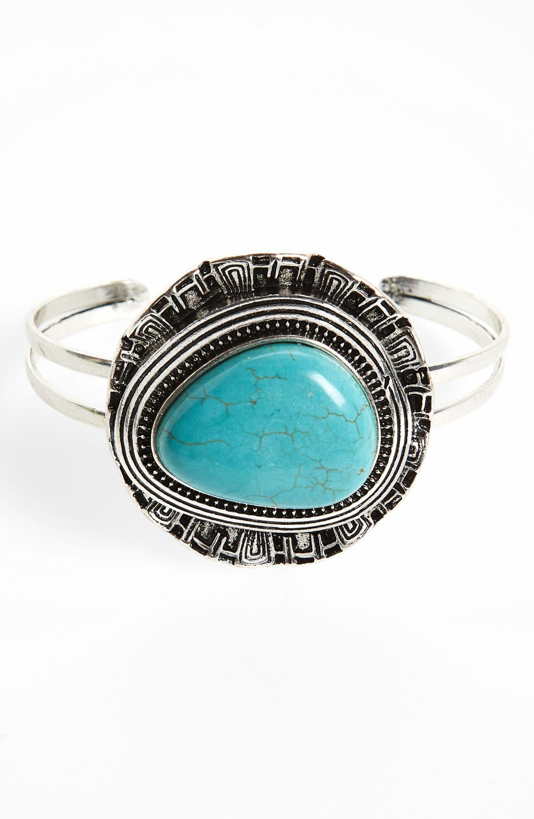 Alternate Image 1 Selected - South Sun Stone Etched Cuff (Juniors)