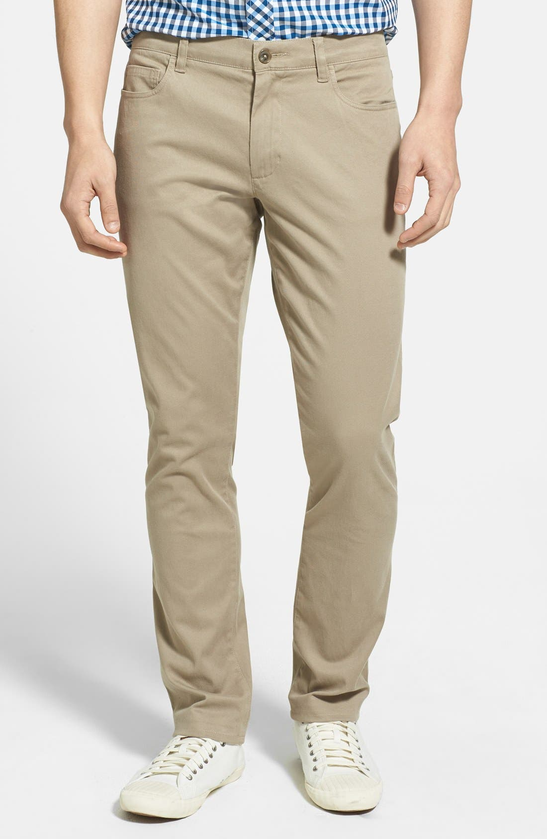 Alternate Image 1 Selected - Vince Five Pocket Stretch Cotton Straight Leg Pants