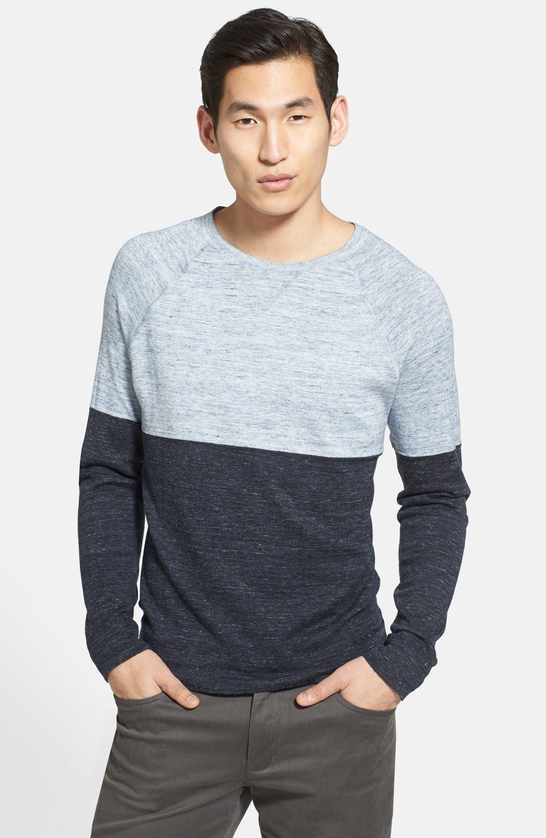 Main Image - Vince 'Breezy' Colorblock Crewneck Sweater