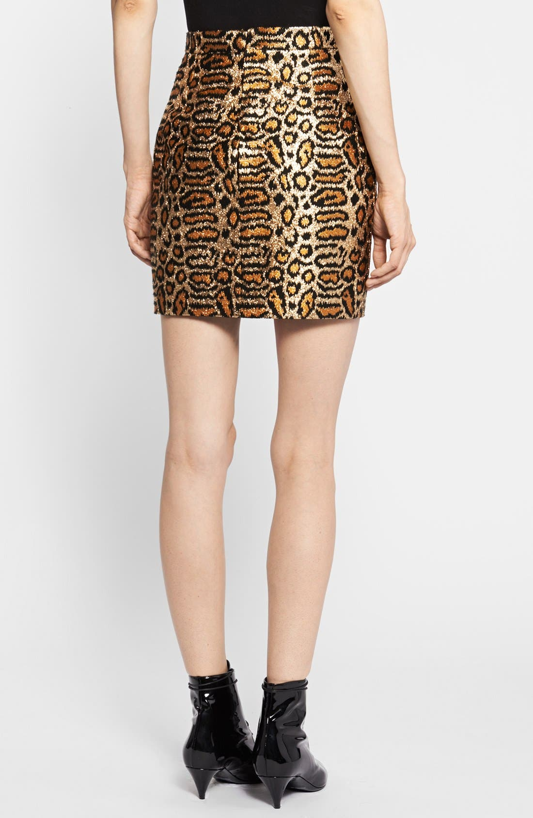 Alternate Image 2  - Saint Laurent Animal Pattern Skirt
