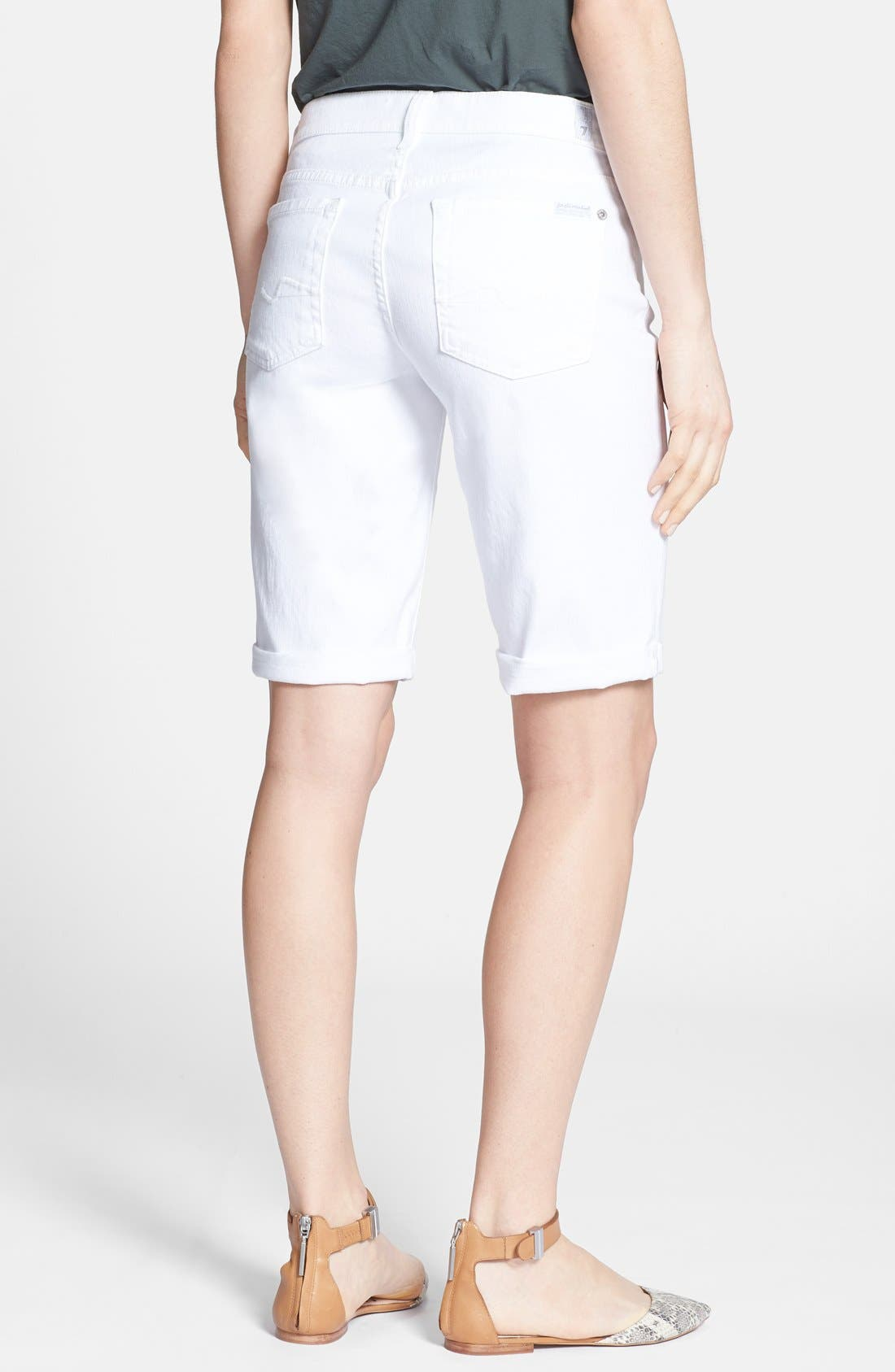 Alternate Image 2  - 7 For All Mankind® Denim Bermuda Shorts (Clean White)