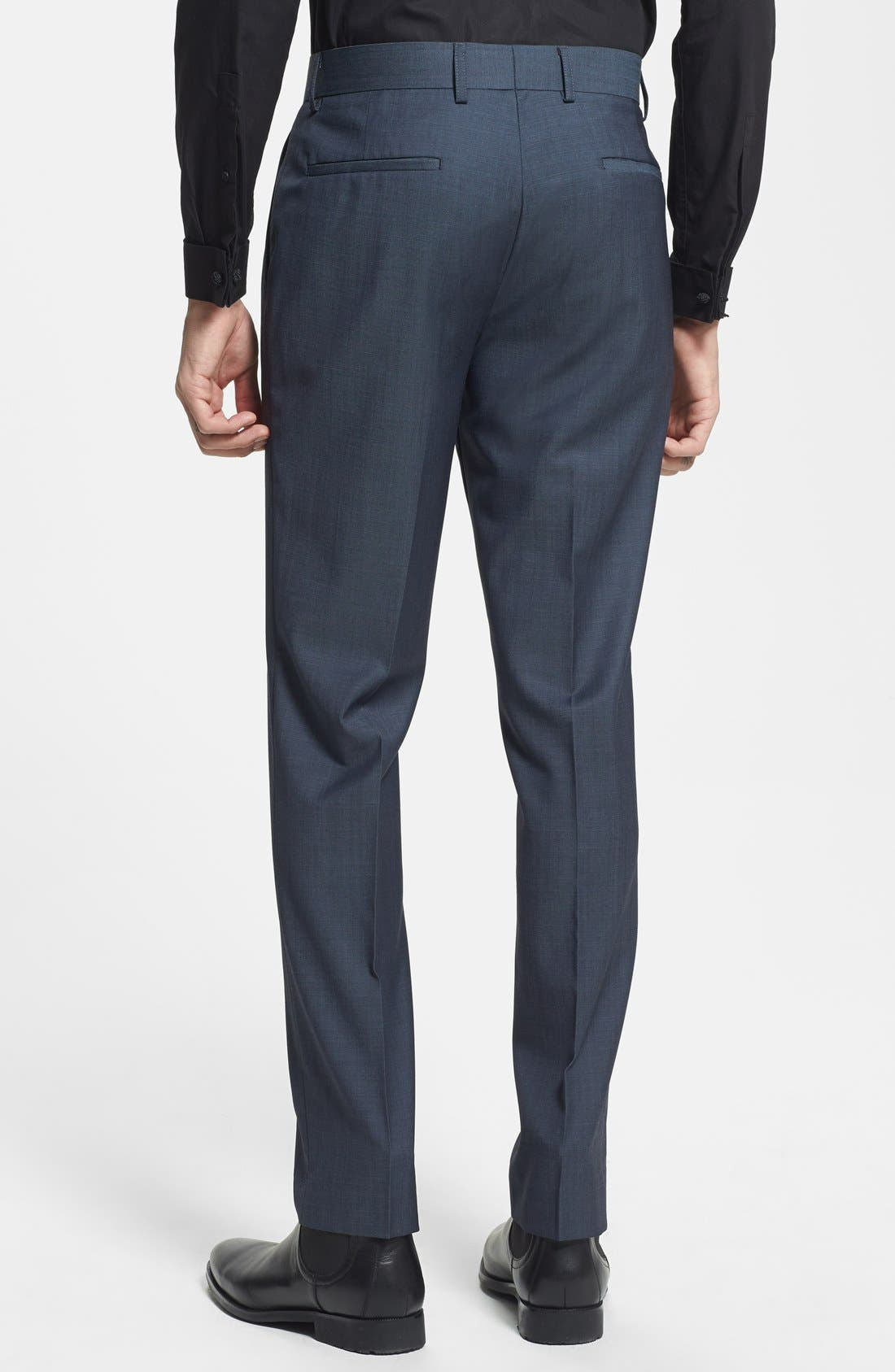 Alternate Image 2  - Topman Skinny Fit Navy Suit Trousers