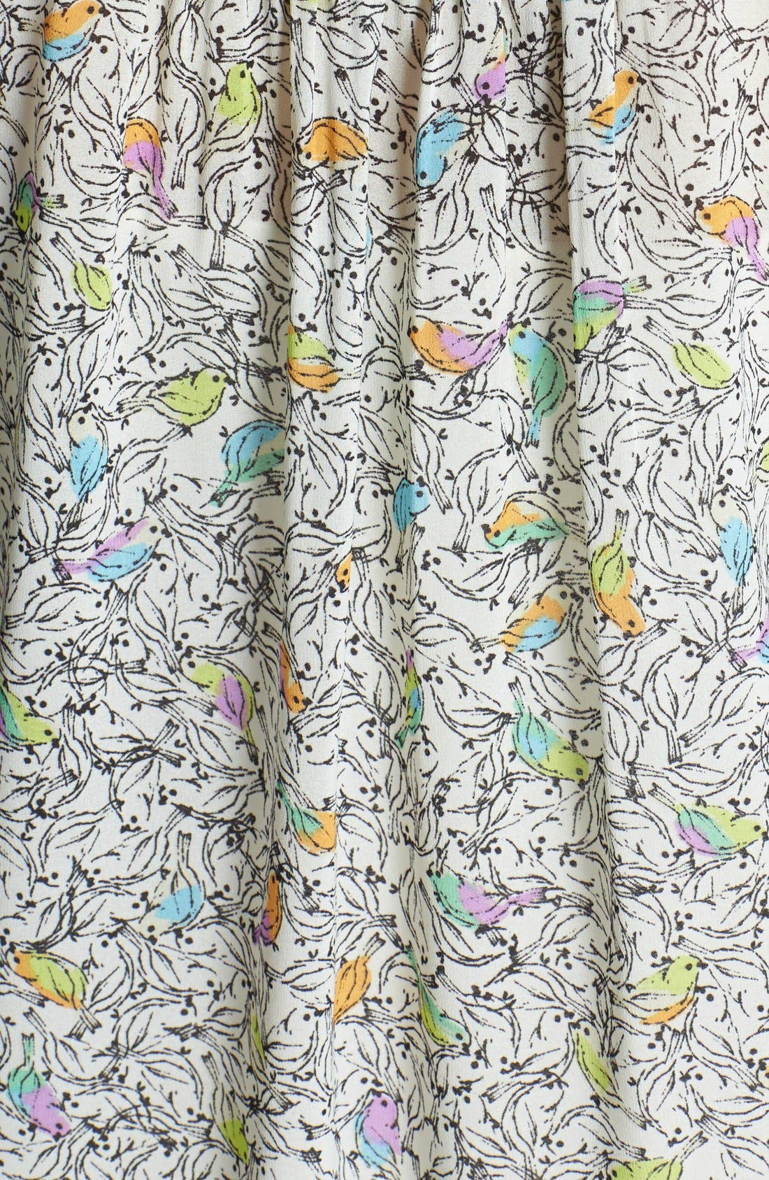 Alternate Image 3  - Daniel Rainn Lace Bib Print Blouse