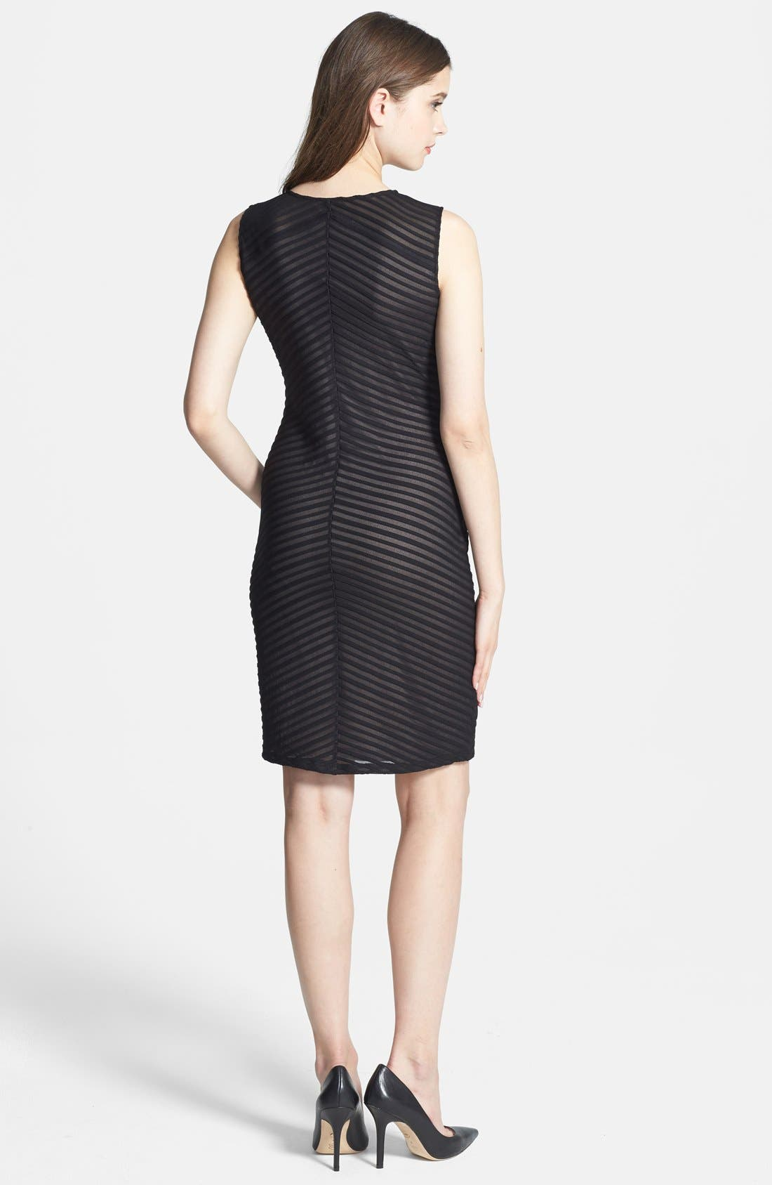 Alternate Image 2  - Calvin Klein Contrast Lined Stretch Knit Sheath Dress