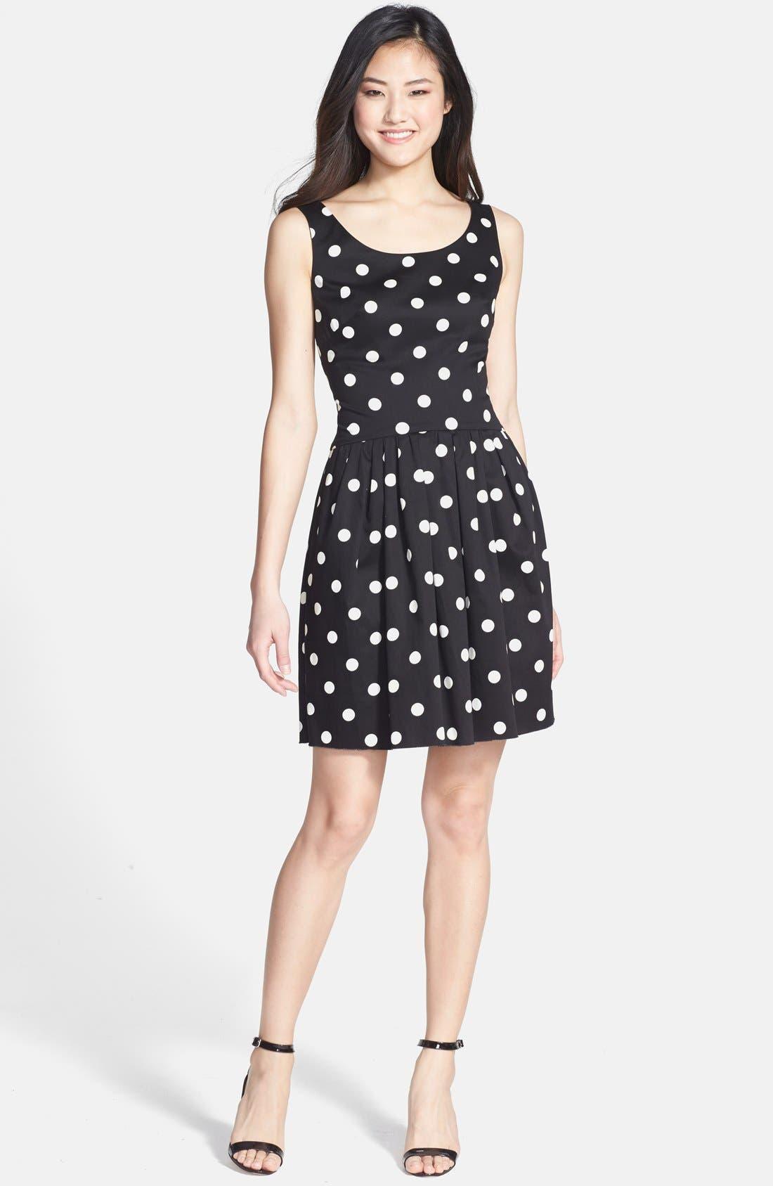 Alternate Image 2  - Betsey Johnson Polka Dot Bow Detail Fit & Flare Dress