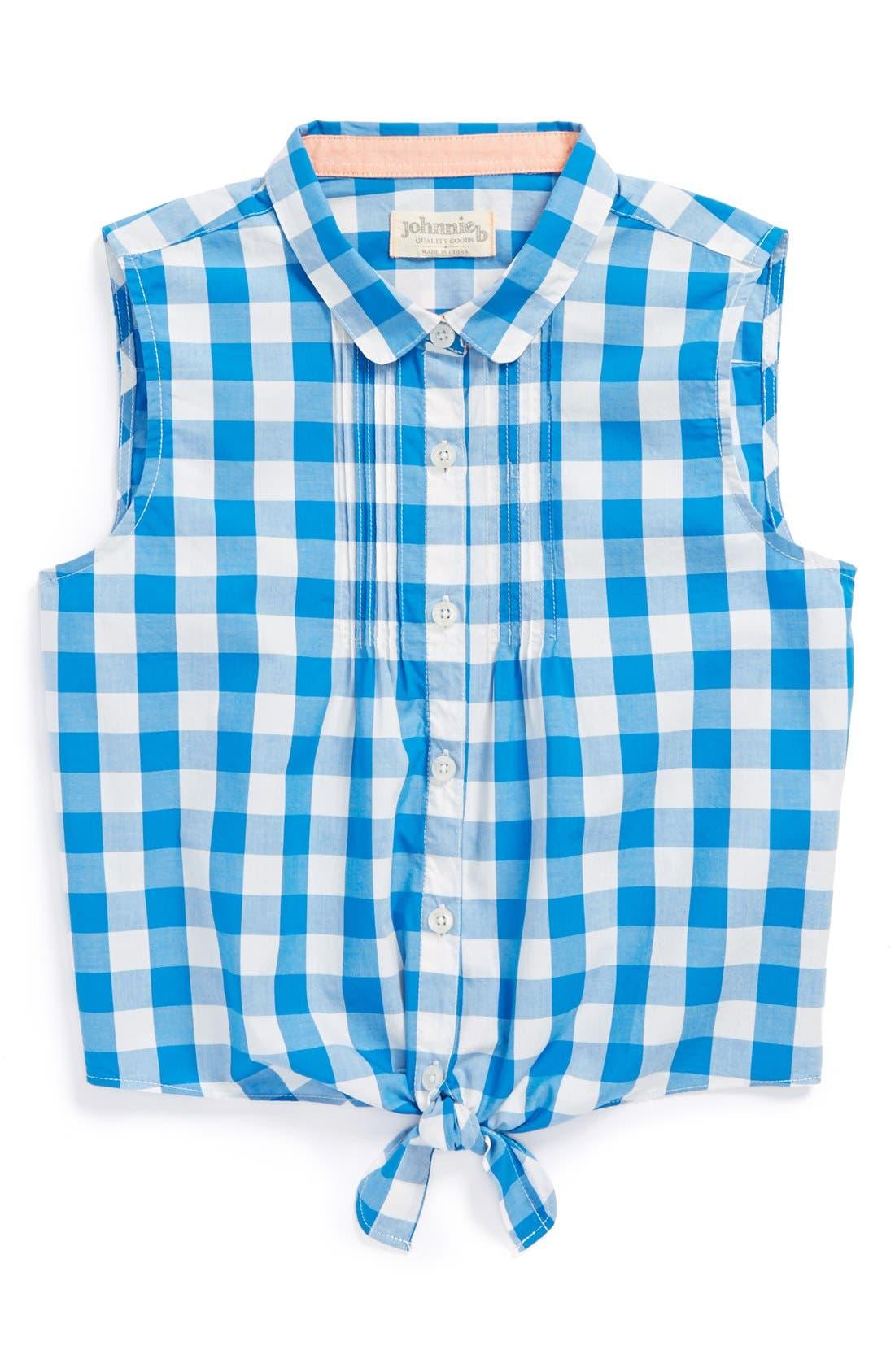 Main Image - Johnnie B by Boden 'Tie Front' Sleeveless Shirt (Big Girls)