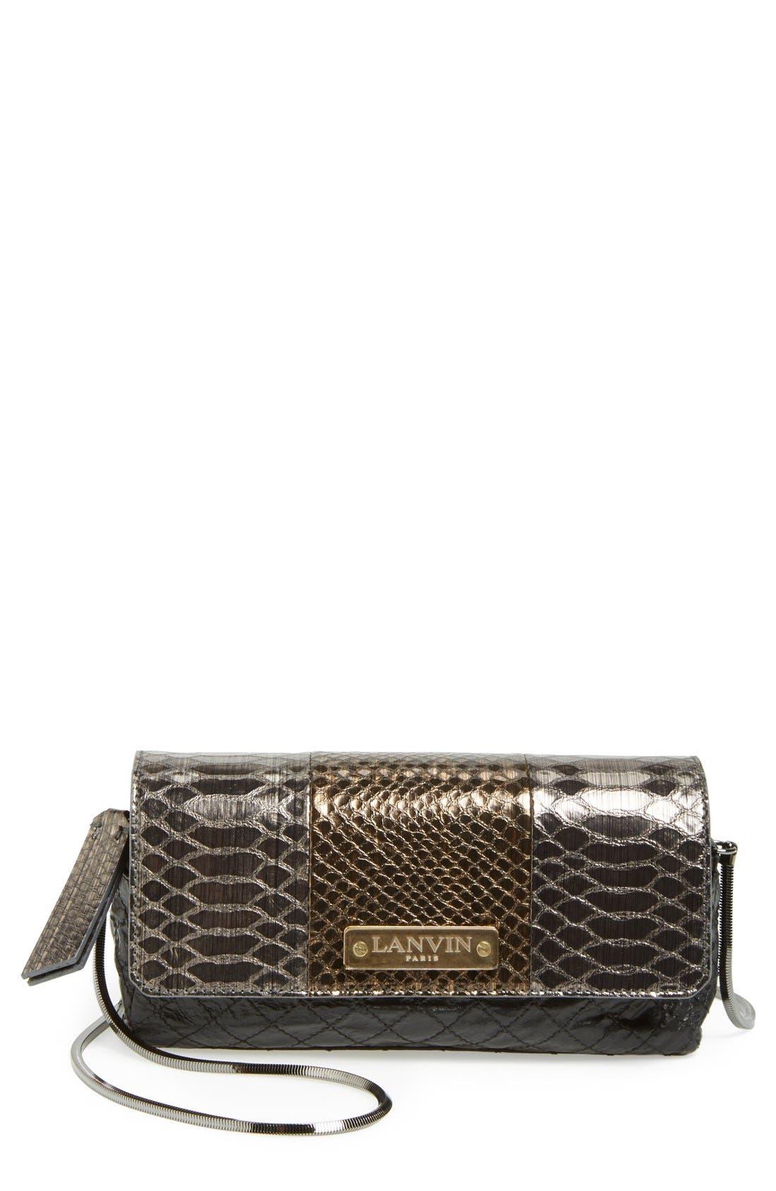 Alternate Image 1 Selected - Lanvin 'Small Paper Bag' Lambskin Shoulder Bag