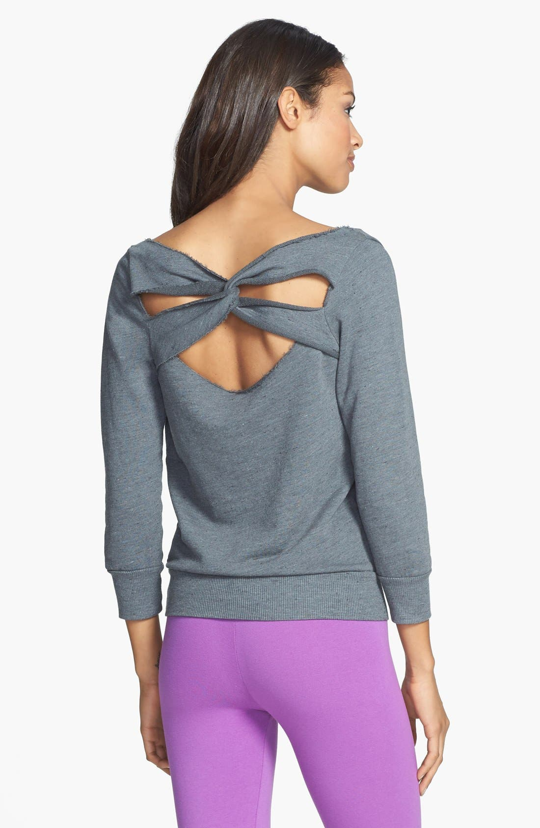 Alternate Image 1 Selected - Solow Twist Back Sweatshirt