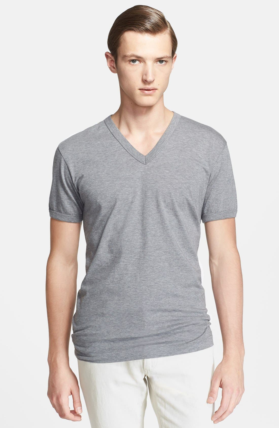Alternate Image 1 Selected - Dolce&Gabbana V-Neck T-Shirt with Back Logo Detail