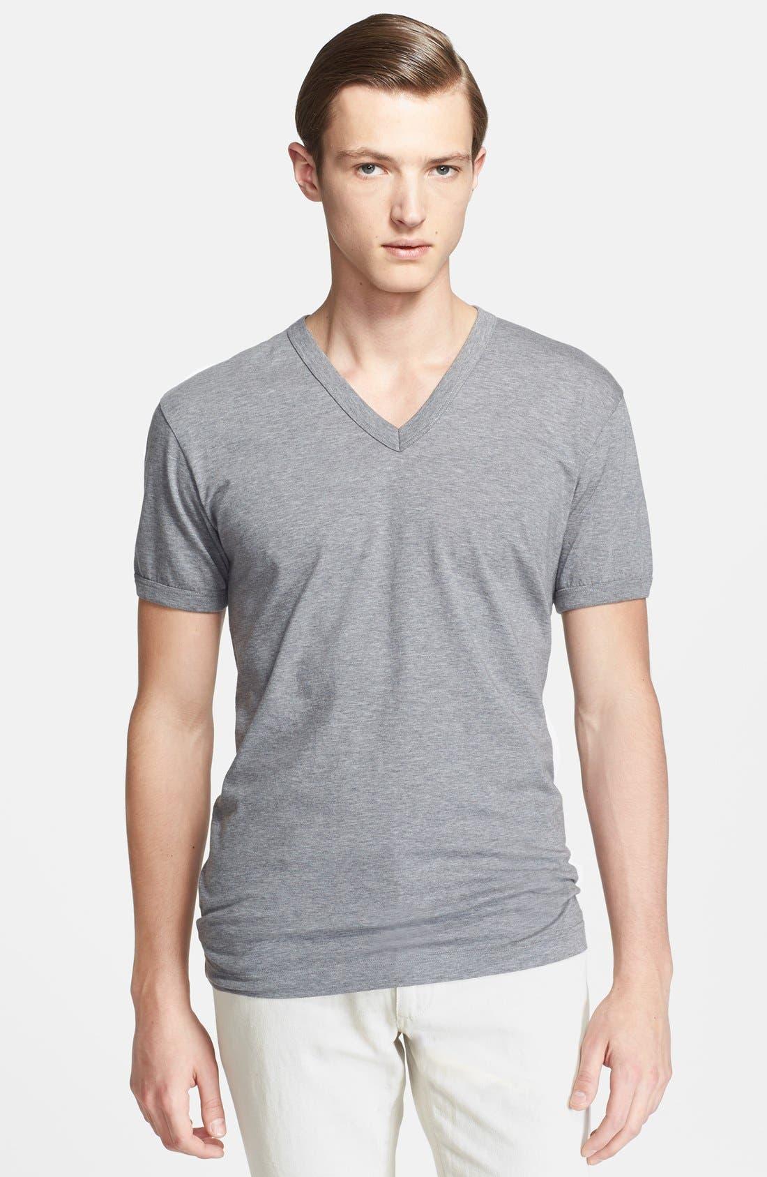 Main Image - Dolce&Gabbana V-Neck T-Shirt with Back Logo Detail