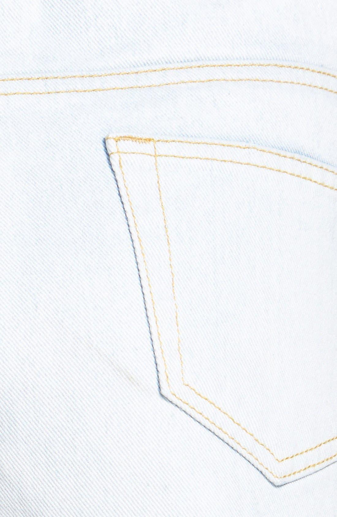 Alternate Image 3  - Glamorous High Rise Distressed Denim Cutoff Shorts