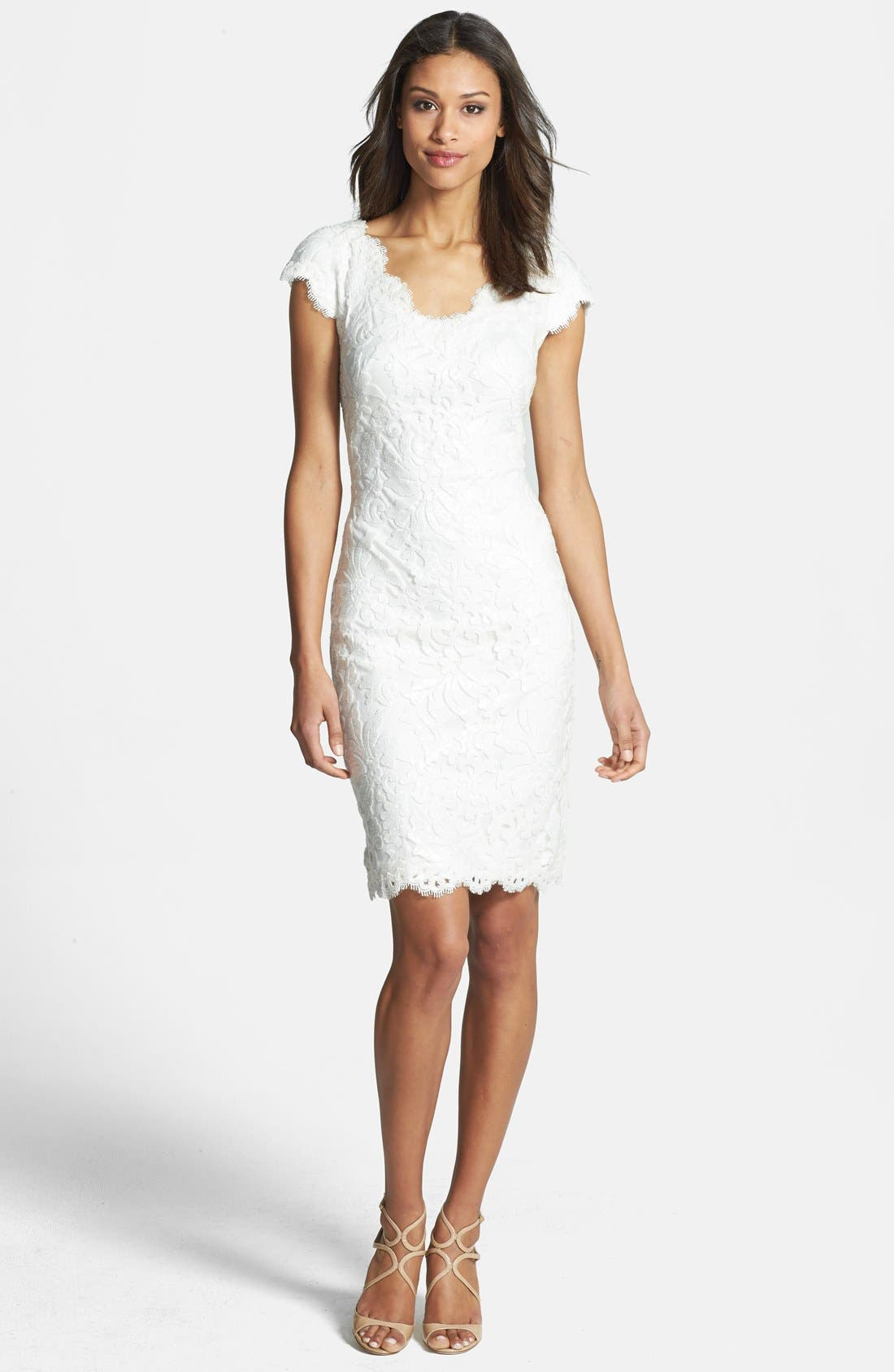 Alternate Image 3  - Tadashi Shoji Lace Sheath Dress
