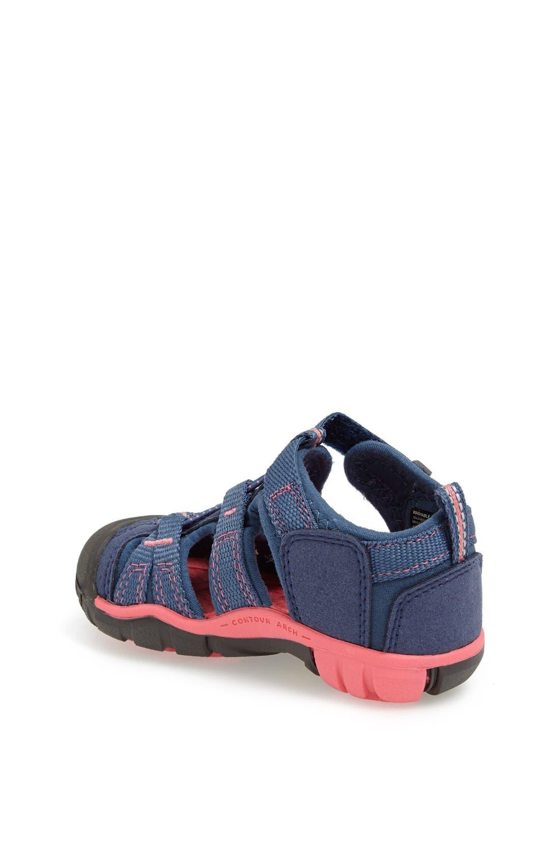 'Seacamp II' Waterproof Sandal,                             Alternate thumbnail 2, color,                             Blue Rose