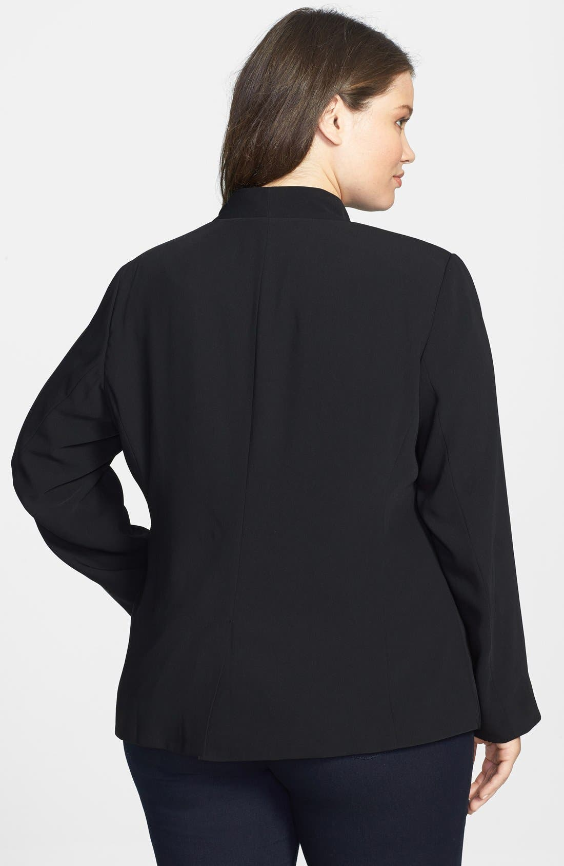 Alternate Image 2  - Eileen Fisher Stand Collar Jacket (Plus Size)