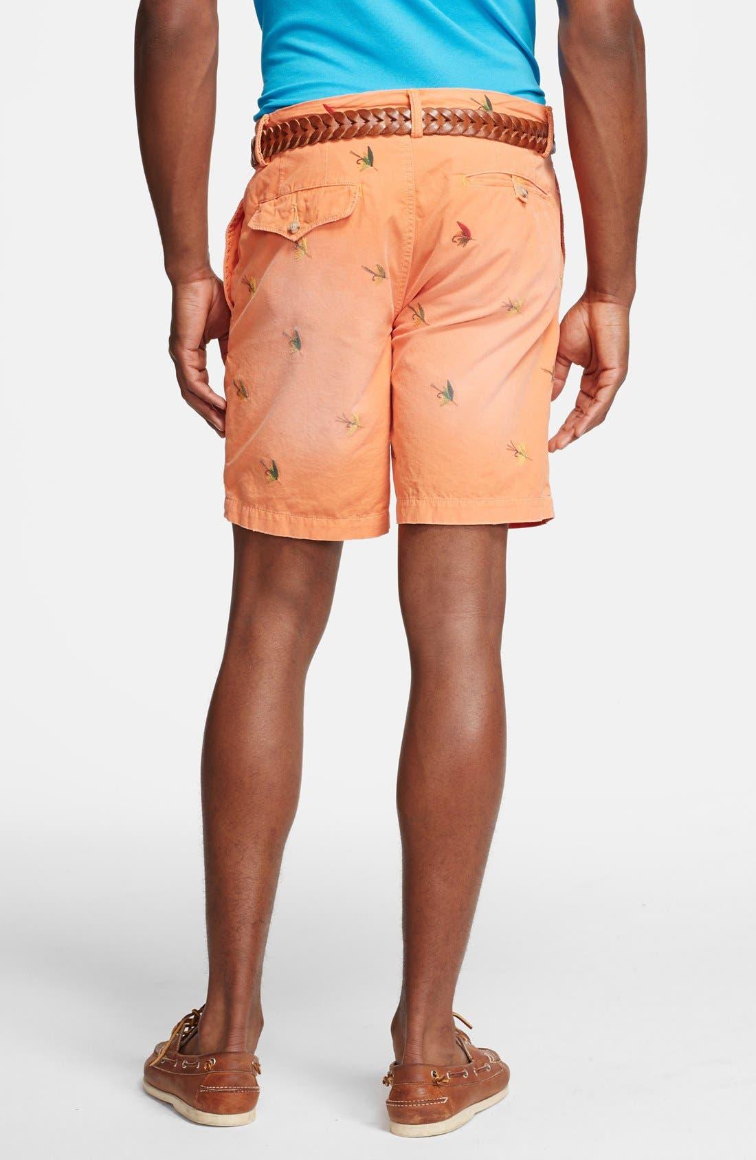 Alternate Image 2  - Polo Ralph Lauren 'Greenwich - Fly Fishing' Straight Leg Canvas Shorts