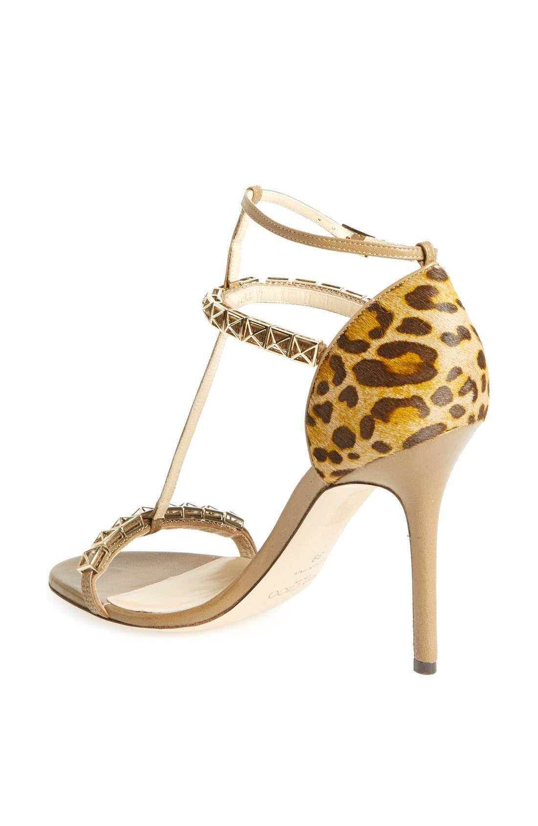 Alternate Image 2  - Jimmy Choo 'Flint' Studded T-Strap Calf Hair Sandal