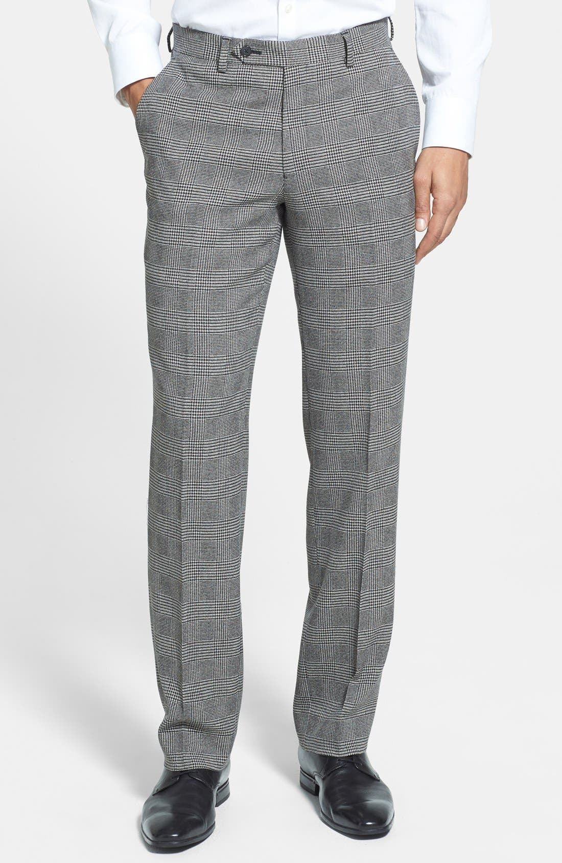 Alternate Image 1 Selected - John Varvatos Star USA Glen Plaid Trousers